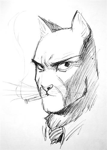 Portrait Blacksad amarillo